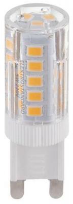 Лампа светодиодная G9 4.5W 3000K колба прозрачная STD-JCD-4,5W-G9-CL/WW-CORN 8253