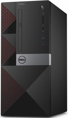 Системный блок Dell Vostro 3650 G4400 3.3GHz 4Gb 500Gb Intel HD DVD-RW Win10 клавиатура мышь черный 3650-0243