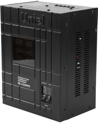Стабилизатор напряжения Uniel RS-1/1500WS черный 0738  стабилизатор напряжения uniel 09499 2000ва rs 1 2000ls
