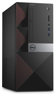 Системный блок Dell Vostro 3650 MT i3-6100 3.7GHz 4Gb 500Gb DVD-RW Win10Pro клавиатура мышь черный 3650-0311