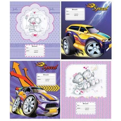 Тетрадь школьная Action! Cartoon. Cars/Cuties 12 листов линейка скрепка AN 1203/3 в ассортименте AN 1203/3