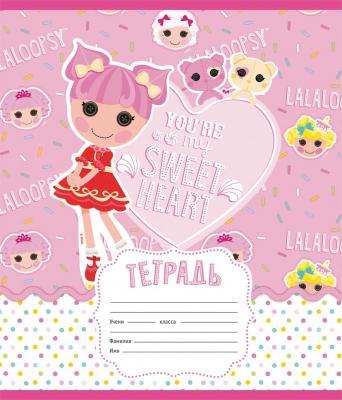 Тетрадь школьная Action! Lalaloopsy 12 листов линейка скрепка LL-AN 1201/1