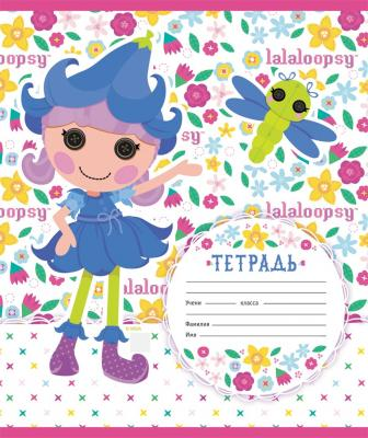 Тетрадь школьная Action! Lalaloopsy 12 листов клетка скрепка LL-AN 1201/5 в ассортименте LL-AN 1201/5
