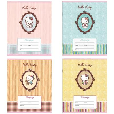 Тетрадь школьная Action! Hello Kitty 12 листов линейка скрепка HKO-AN-1201/1-2 HKO-AN-1201/1-2