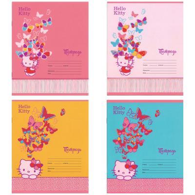 Тетрадь школьная Action! Hello Kitty 12 листов клетка скрепка HKO-AN-1201/5 в ассортименте тетрадь общая action hello kitty hko an 4801 5 3 48 листов клетка скрепка