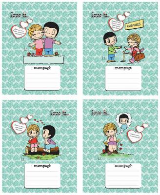 Тетрадь школьная Action! Love is 18 листов линейка скрепка LI-AN 1803/1 в ассортименте LI-AN 1803/1