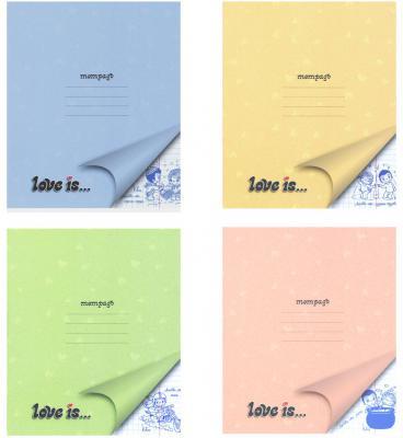 Тетрадь школьная Action! Love is 18 листов клетка скрепка LI-AN 1804/5 в ассортименте тетрадь action клетка а5 80 листов в ассортименте