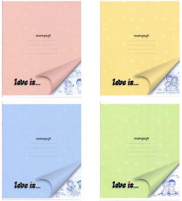 Тетрадь школьная Action! Love is 18 листов линейка скрепка LI-AN 1804/1 в ассортименте LI-AN 1804/1