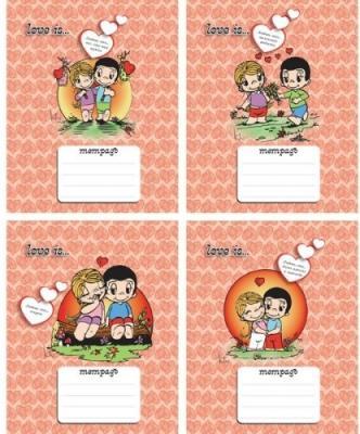 Тетрадь школьная Action! Love is 18 листов клетка скрепка в ассортименте LI-AN 1803/5