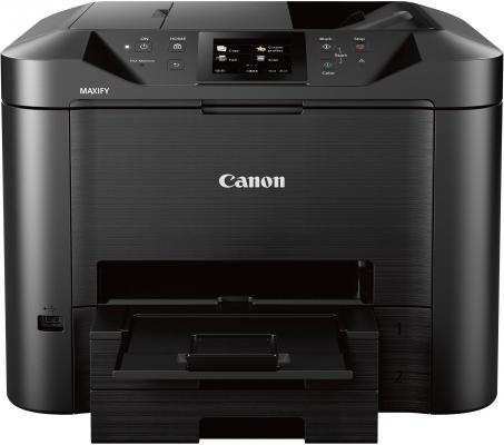 МФУ Canon Maxify MB5440 цветное A4 24/15ppm 600x1200 Duplex Wi-Fi USB черный 0971C007 мфу canon maxify mb2140