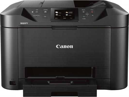 МФУ Canon Maxify MB5140 цветное A4 24/15ppm 600x1200 Duplex Wi-Fi USB черный 0960C007 мфу canon maxify mb2140