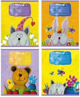 Тетрадь школьная Би Джи Funny Toys 18 листов клетка скрепка Т5ск18 1421 в ассортименте Т5ск18 1421