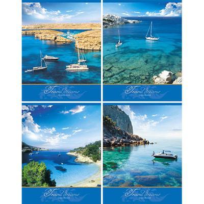 Тетрадь общая Би Джи Travel Dreams 48 листов клетка евроспираль Т5гр48 0298 в ассортименте