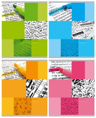 Тетрадь ученическая Би Джи Text 48 листов клетка скоба Т5ск48 1024 в ассортименте