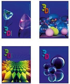 Тетрадь общая Би Джи 3D-Collection 60 листов клетка евроспираль Т5гр60 0879 в ассортименте