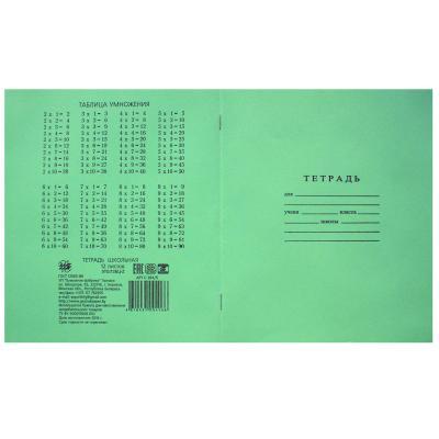 Тетрадь школьная ГОЗНАК С 264/5* 12 листов клетка скрепка