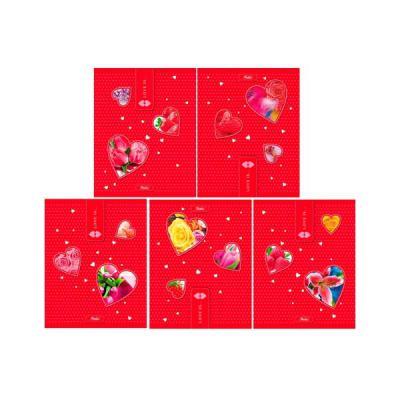 Тетрадь общая Хатбер Love Is 48 листов клетка скоба 028559 в ассортименте 48Т5вмВ1/L
