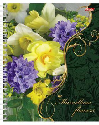 Тетрадь общая Хатбер FLOWERS 012945 48 листов клетка гребень 48Т5вмB1гр/F в ассортименте