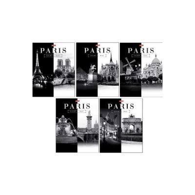 Тетрадь общая Хатбер Париж 60 листов клетка скоба 028411 в ассортименте 60Т5В1/ПАРИЖ