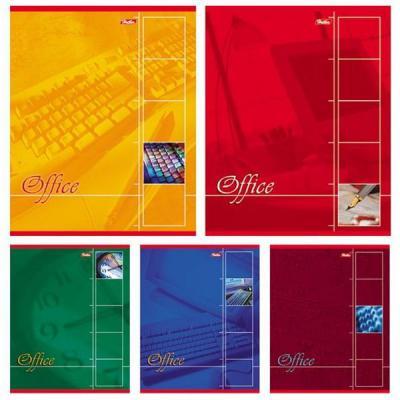 Тетрадь общая Хатбер Офис 80 листов клетка скрепка 013327 в ассортименте