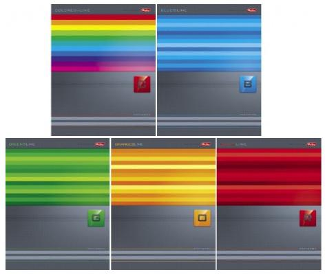 Тетрадь общая Хатбер LINES 80 листов клетка скоба 80Т5В1/L в ассортименте 80Т5В1/L