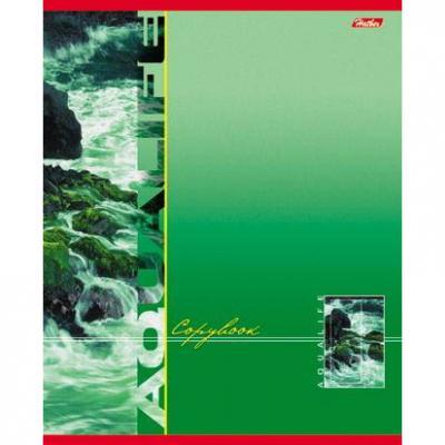 Тетрадь общая Хатбер AquaLife 80 листов линейка скрепка 80Т5В2/AQ