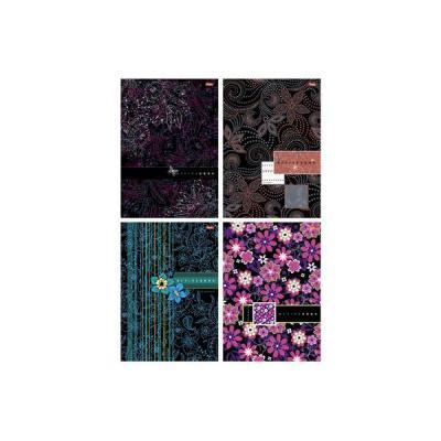 Тетрадь офисная Хатбер Изящные узоры 80 листов клетка твердый переплет 80ББ4В1_06539 в ассортименте 80ББ4В1_06539