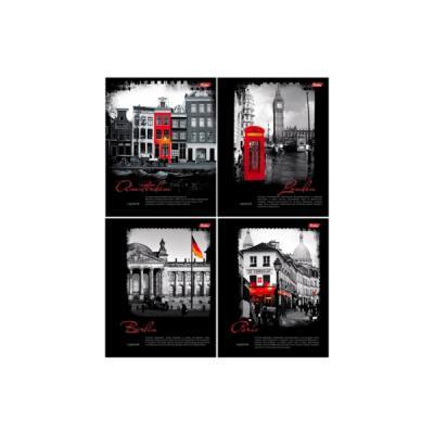 Тетрадь общая Хатбер BLACK&RED 028425 96 листов клетка гребень 96Т5В1гр/B&R в ассортименте 96Т5В1гр/B&R