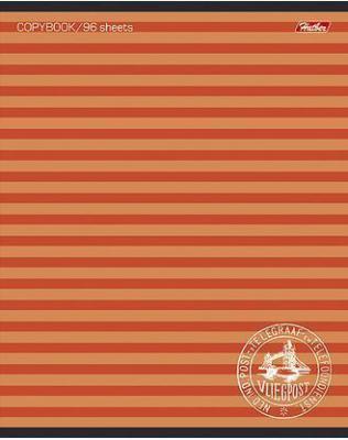Тетрадь общая Хатбер ПОЛОСОЧКИ 033678 96 листов линейка скоба 96Т5В2/ПОЛ в ассортименте 96Т5В2/ПОЛ