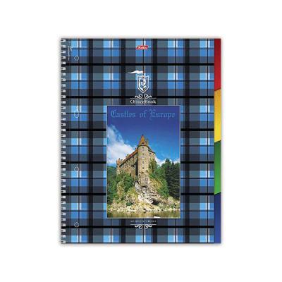 Тетрадь общая Хатбер Шотландка 120 листов клетка спираль 013994