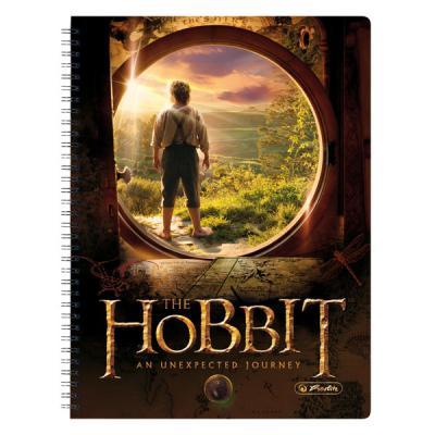 Тетрадь общая Herlitz Hobbit MiddleEarth 70 листов клетка спираль 11307006 11307006