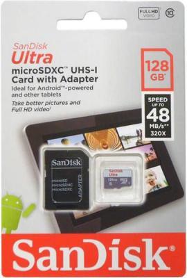 Карта памяти Micro SDXC 128Gb Class 10 Sandisk SDSQUNB-128G-GN6TA