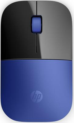 Мышь беспроводная HP Z3700 синий чёрный USB V0L81AA мышь беспроводная hp z3700 синяя
