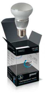 Лампа светодиодная диммируемая E27 5W 4100K полусфера матовая EB106102205-D