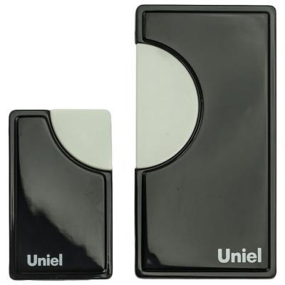 Звонок дверной беспроводной Uniel черный UDB-002W-R1T1-32S-100M-BL