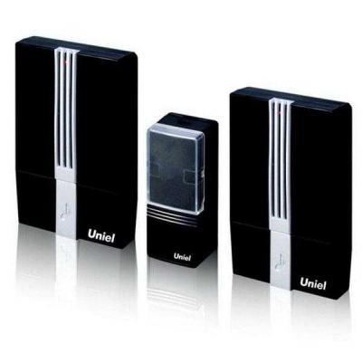 Звонок дверной беспроводной Uniel черный UDB-003W-R2T1-32S-100M-BL