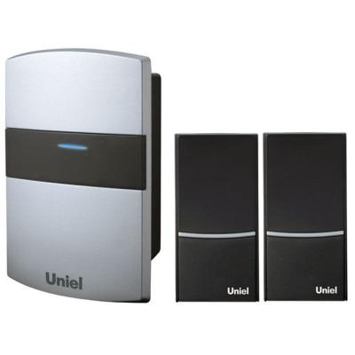 Звонок дверной беспроводной Uniel белый черный UDB-004W-R1T2-32S-100M-SL