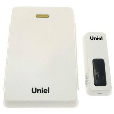 Звонок дверной беспроводной Uniel UDB-005W-R1T1-32S-100M-WH белый 03609 звонок uniel udb 005w r1t1 32s 100m ls
