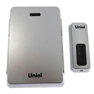 Звонок беспроводной (03612) Uniel UDB-005W-R1T1-32S-100M-SL звонок uniel udb 005w r1t1 32s 100m ls