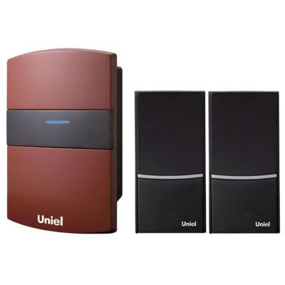 Звонок дверной беспроводной Uniel 03617 красный UDB-004W-R1T2-32S-100M-RD звонок дверной беспроводной uniel белый черный udb 004w r1t2 32s 100m sl