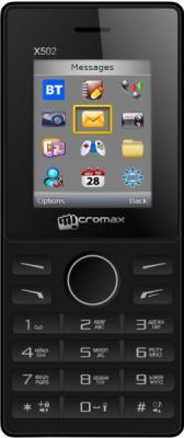 Мобильный телефон Micromax X502 черный 1.77 24 Мб мобильный телефон micromax bolt q379 черный