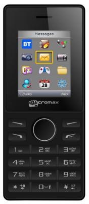 """Мобильный телефон Micromax X405 черный 1.8"""""""