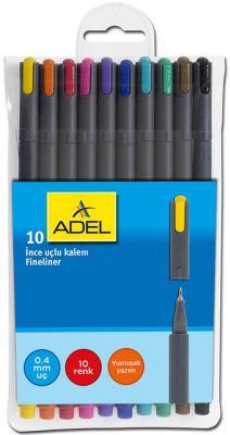 Шариковая ручка Adel 10 шт разноцветный 0.4 мм