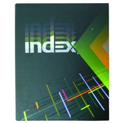 Тетрадь офисная Index IN 16002/5 160 листов клетка кольца