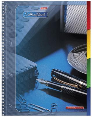 Тетрадь общая Хатбер Office Book 120 листов клетка спираль 013992
