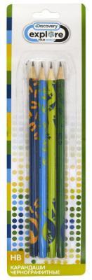 Набор графитовых карандашей Action! Discovery 4 шт DV-ALP185/4 DV-ALP185/4 шариковая ручка автоматическая action discovery 4 шт синий dv abp161 в ассортименте dv abp161