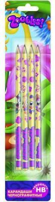 Карандаши чернографитные Action! Zoobles 4 шт ZB-ALP185/4 ZB-ALP185/4 zoobles twobles starfish