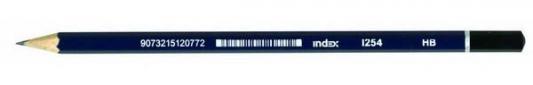 Карандаш графитовый Index I254 синий корпус