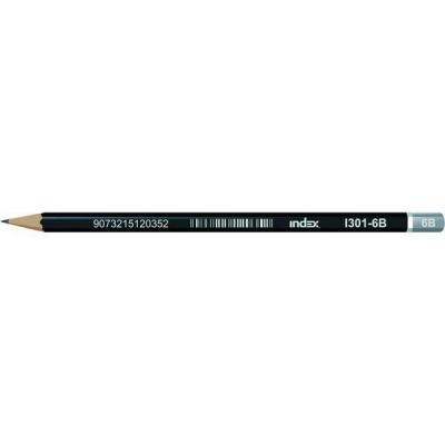 Карандаши чернографитные Index I301-6B 12 шт I301-6B