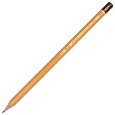 Карандаш чернографитный Koh-i-Noor 1500 10H деревянный лакированный корпус 1500 10H стоимость